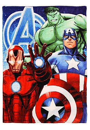 yuhu Avengers Coral Fleece Kuscheldecke Tagesdecke Ironman, Hulk, Thor & Captain America