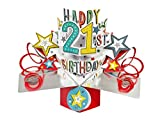 Second Nature 21st Birthday Pop Up Greeting Card - POP148