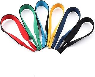 Surplex Paquet de 6 paires de cordons élastiques en néoprène avec cordon de retenue pour lunettes de sport et lunettes de ...