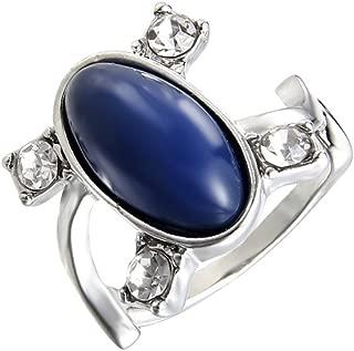 LUREME Women Mens The Vampire Diaries Elena Sapphire Crystal Daylight Ring Silver Ring(04001477)