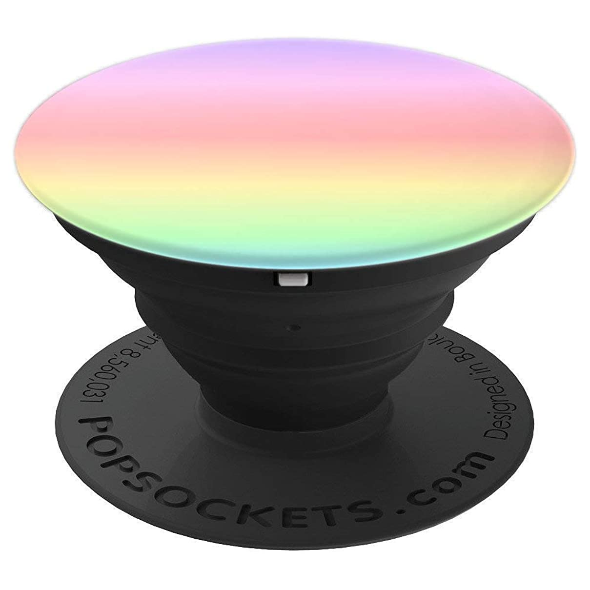 Shiny Chrome Mermaid Print Pastel Ombre Rainbow Sunset Prism - PopSockets Grip and Stand for Phones and Tablets