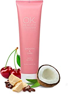 OK Beauty Smooth & Care Body Lotion Moisturizer Souffle Body Cream w. Coconut Oil,Cocoa Butter, Shea Butter, Almond Oil an...
