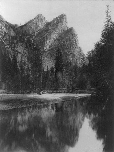 Early 1900s Yosemite National Park, photo Vintage Black & White Photograph f5