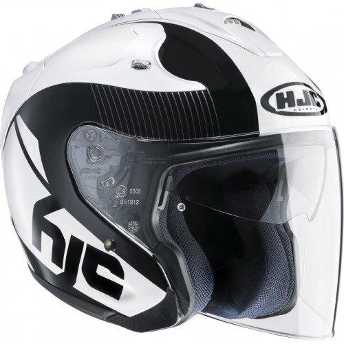 HJC Motorradhelm FG-Jet Acadia MC5, Schwarz/Weiß, Größe L
