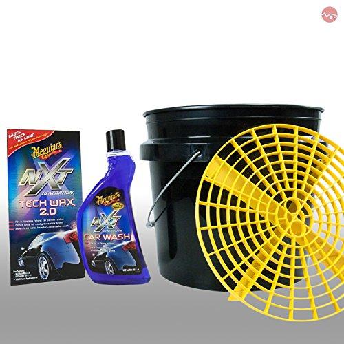 MEGUIAR'S_bundle Meguiars Autopflege Putzeimer Grit Guard + NXT Car Wash Shampoo + NXT tech Wax 2