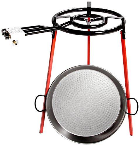 1. Vaello Campos La Valenciana – Paellera a gas de 46 cm de diámetro con quemador
