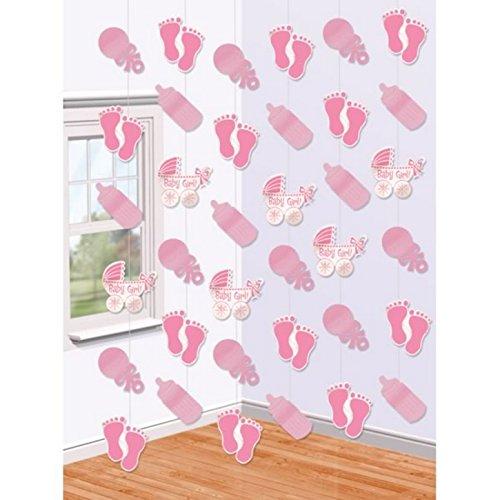 amscan International Rideau décoratif de 6 Cordes pour Chambre de bébé Rose