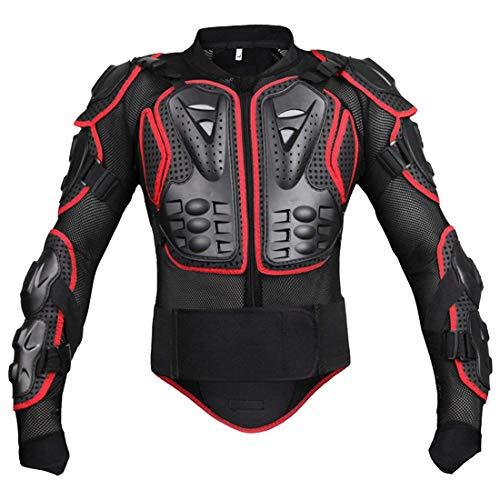 Moto Cross Enduro Motorcycle Veste De Protection À Le pour Ski La Único Moto Coffre Protector Veste Protector Jacket (Color : Rot, Size : M)