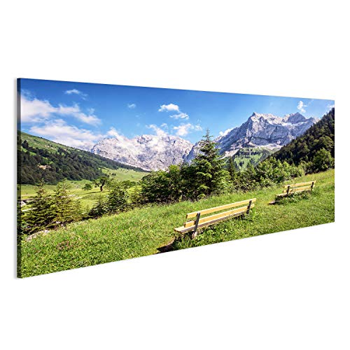 Bild Bilder auf Leinwand Karwendel Berge in österreich Alpen Wandbild Leinwandbild Poster