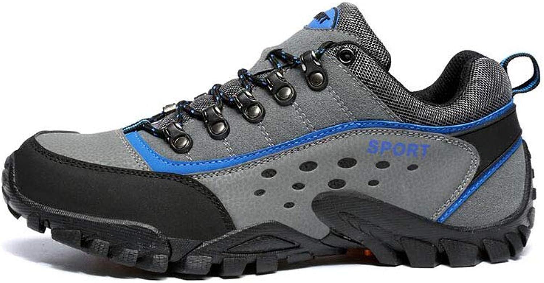FF Wasserdichte Wanderschuhe Mnnliche Rutschfeste Bergsteigenschuhe halten warme Outdoor-Schuhe Reiseschuhe Wanderschuhe (Farbe   Blau, Größe   EU39 UK6.5 CN40)