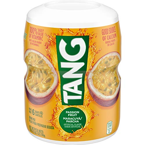 Tang Passion Fruit Powdered Drink Mix (18 oz Canisters, Pack of 12)