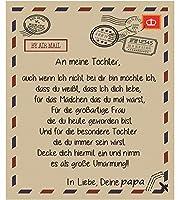 ドイツ人 フランネルの毛布がスローします お父さんから、 航空郵便 印刷された手紙 フリースベッドキルト パーソナライズされました 誕生日プレゼント 寝台の寝台のために寝台のために,To daughter,150*200CM