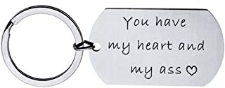 You Have My Heart and My Ass Keychain Boyfriend Girlfriend Gifts Keyring Wife Husband Gifts