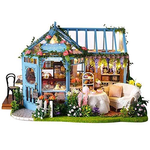 XZJJZ DIY Miniatur-Puppen Set-Modell Baukastens zu Errichten-Assembly Garten-Fee Haus-3D Holzpuzzle Spielset-Home Decor (Size : with dust Cover)