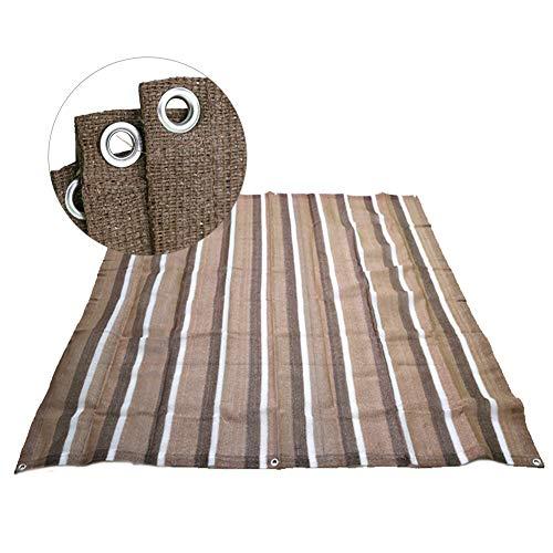 Filet d'ombrage Marron Tissu Pare-soleil pour Plante D'extérieur, 90-95% Glissières Cool Shade Cloth avec Oeillets, Villa/Carport/Toit/Patio (Size : 5.9×7.9 ft(1.8×2.4 m))
