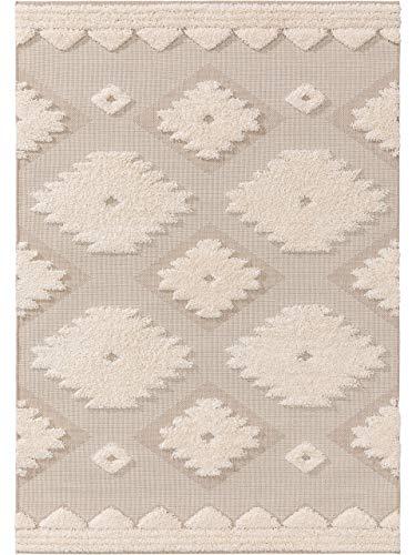 benuta PLUS In- & Outdoor-Teppich Carlo Cream/Beige 120x170 cm - Outdoor-Teppich für Balkon & Garten