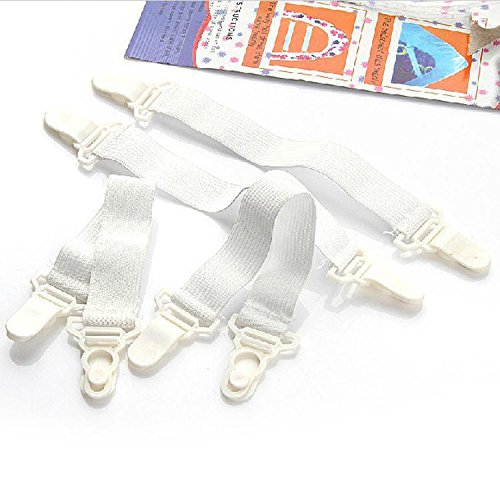 YALIXING Home Textiles 4Pcs Bed Sheet Fixed Grippers Clip Holder Fasteners Set Non-slip Elastic Bed Sheet Buckle Provide You with A Comfortable Life Experience