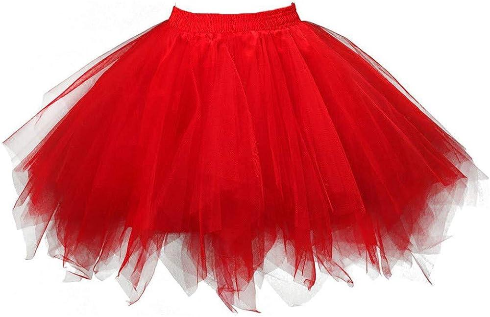 Giulot Womens Vintage Petticoat Ballet Bubble Asymmetrical Skirt Tutu Dancing Dress