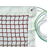 DOURR Badminton Net, Outdoor Indoor Sports Classic Badminton Replacement Net with Steel Cable Ropes for...