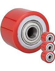 PrimeMatik - Wiel voor pallettruck 80x60 mm 700 Kg 4-pack polyurethaan roller