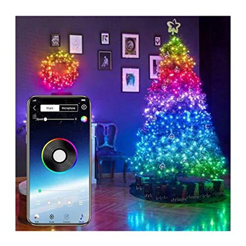 ZUYOKI Christmas Tree Decoration Lights Custom LED String Lights App Remote Control (20M 200LED)