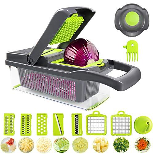 Mini Gemüse Shredder Multifunktionsgemüse Shredder Lebensmittel Shredder Gemüsehobel Multifunktions gewürfelte Kartoffel Shredder Shredder Haushaltskartoffelschnitzler