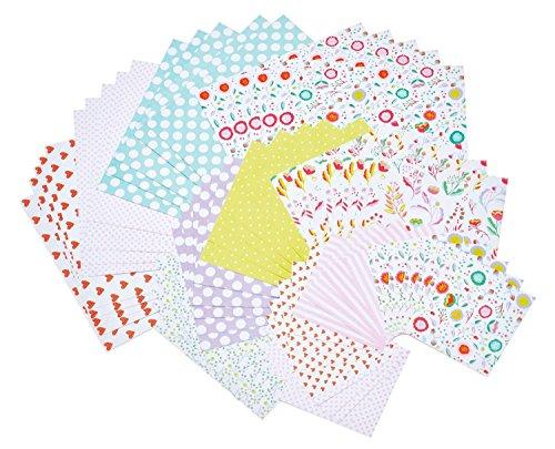 Set papier origami romantic