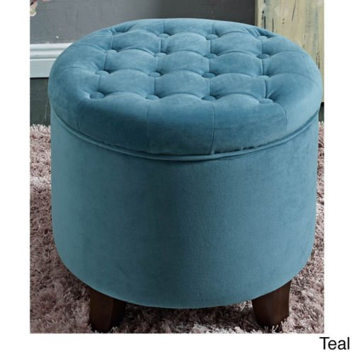 Round Storage Footrest with Removable Top