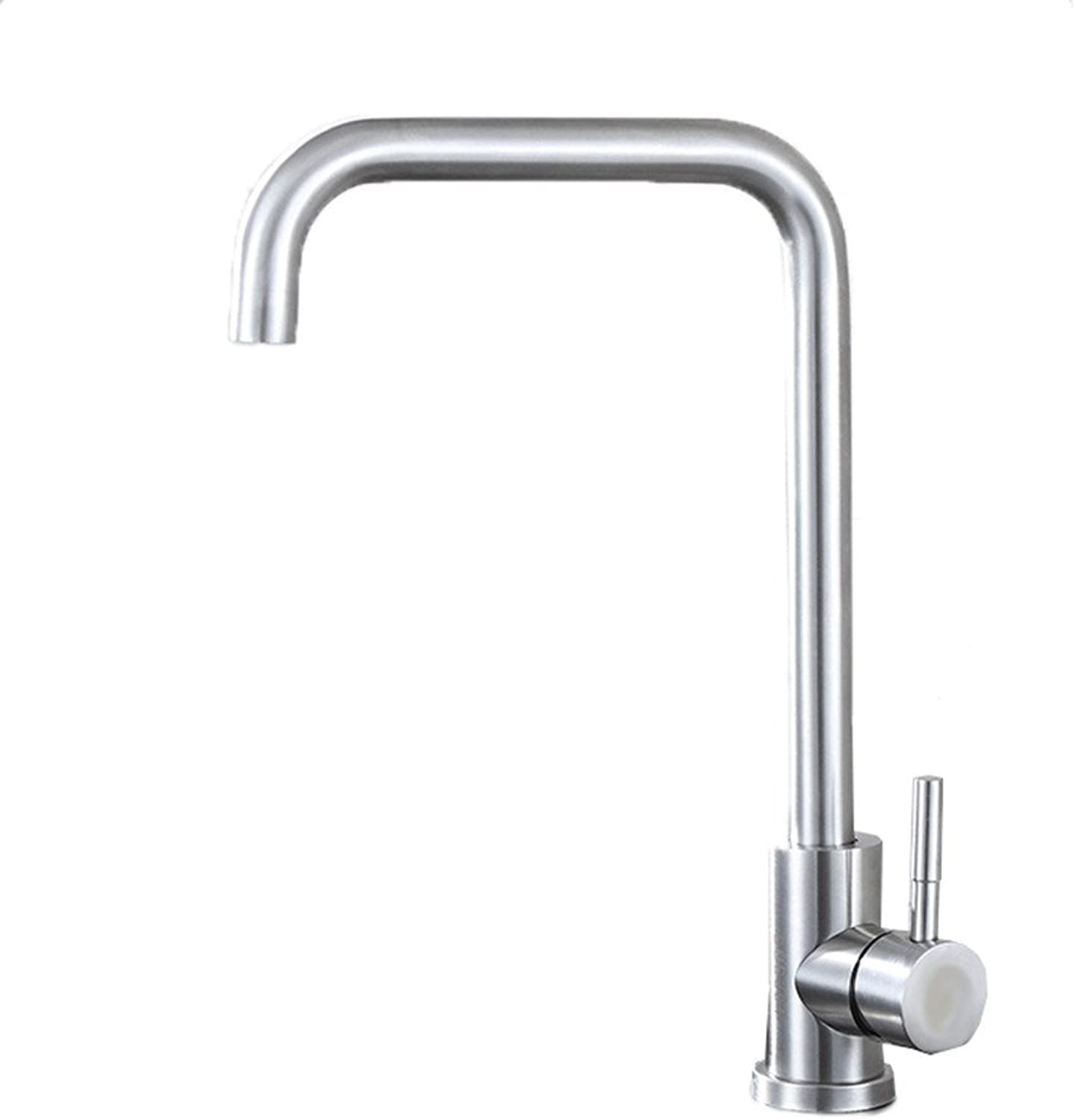 Bijjaladeva Antique Bathroom Sink Kitchen faucet 304 stainless steel sink faucet hot and cold sink single cold faucet can be 360 ??redation, B