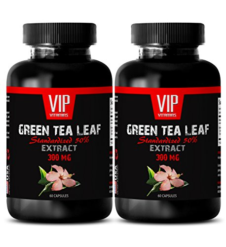 Fat Burner Pills Best Sellers - Green Tea Leaf Extract - Green Tea Weight Loss Pills - 2 Bottles 120 Capsules