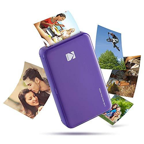 Kodak - Imprimante Photo Mini 2 HD, Instantanée, sans Fil et Mobile, Technologie d'Impression Brevetée 4Pass, Compatible avec iOS et Android, Violet