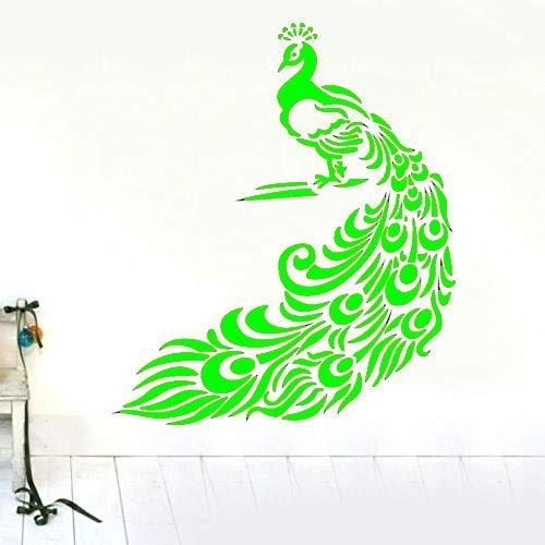 zqyjhkou Eine große pfau wandaufkleber dekor abnehmbare Vinyl Aufkleber Kinder Aufkleber Kunst DIY tapete künstlerisches Design Poster wandbild 4 75x90 cm