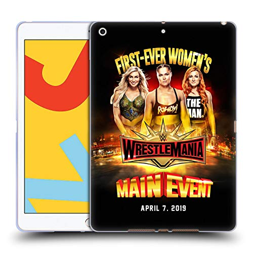Official WWE Charlotte, Ronda & Becky Wrestlemania 35 Soft Gel Case Compatible for Apple iPad 10.2 (2019)
