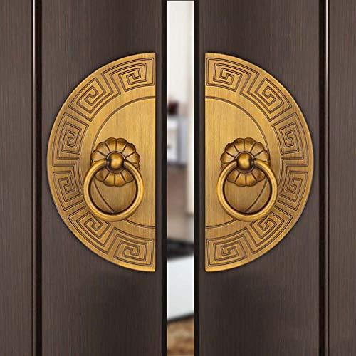 tewun Vintage Halbrunde Stoßgriff Zinklegierung Möbel Pull für Dekorative Küchenschrank Kleiderschrank Tür Kommode Schublade, EIN Paar