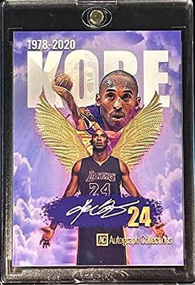 1978-2020 KOBE BRYANT Tribute Basketball Card - Custom Made Novelty LA Lakers Basketball Card (Encased in One Touch Hard Plastic Magnetic Card Holder)