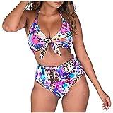 K-youth bikini mujer 2019 Traje de BañO de Bikini de Dos Piezas con Estampado de Mariposas para Playa Natacion Piscina