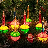 Multicolor Christmas Bubble Lights with 7 Clear Bulbs , UL Listed for Holiday Christmas Celebrations Lighting, Green Wire