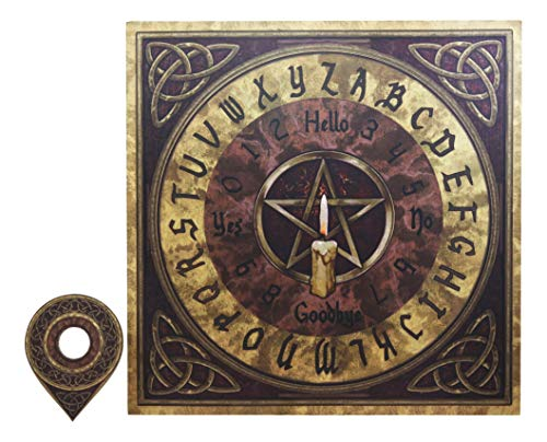 Ebros Celtic Pentagram Illustrated Ouija Spirit Board Game with Planchette 15' by 15' Witchcraft Dark Arts by Lisa Parker Gaming Fun Novelty Gift 6th Sense Supernatural Arts