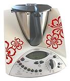 Grafix Pegatinas para Thermomix TM31, diseño Floral Rojo