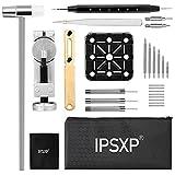 IPSXP Uhrenwerkzeug, Uhrmacherwerkzeug Set, Uhr Reparaturset,Batteriewechsel Werkzeug für Uhren, mit Handbuch und Aufbewahrungstasche