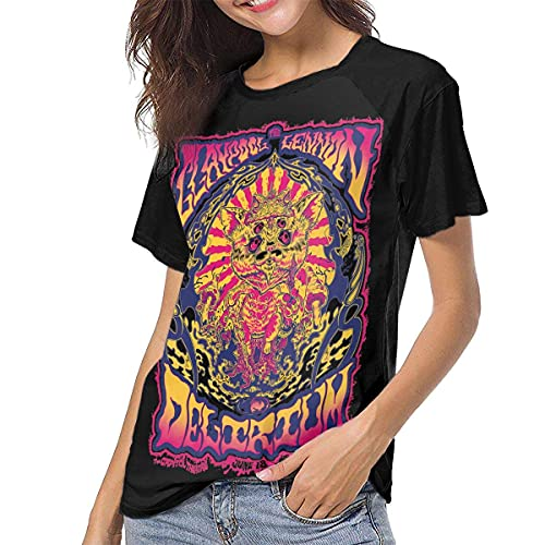Claypool Lennon Delirium Woman Baseball T-Shirt Short Sleeve Blouses Tee Black Casual Top