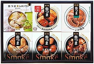 缶つま 6種類詰め合わせギフトセット(KPM2)(缶詰 おつまみ いか明太 鮭ハラス たこ 黒豚角煮 マテ茶鶏 うずら卵)