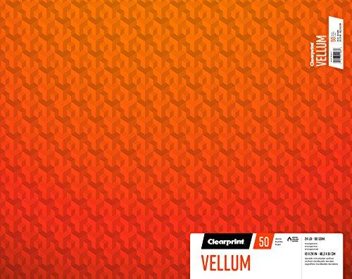 Clearprint vitela Pad, 24lb, 90g/m², 19x 24cm, 50hojas por bloc, 1cada (26321502611)