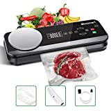 vacuum food saver machine - Vacuum Sealer Blusmart 80Kpa Full Automatic Vacuum Food Sealer Machine with Kitchen Scale & LCD Display,Dry & Moist Food Modes,Vacuum Air Sealing System For Food Saver