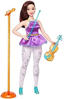 You Can Be Anything Barbie and the Rockers Doll measures approximately 12 inches tall with Orange and Blue Violin along with Blue Bow and Coordinating Orange Microphone and Stand