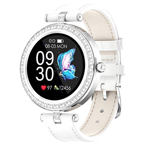 Smartwatch Für Frauen, Sport Uhr Fitnessuhr Pulsmesser IP67 Wasserdicht Digitaluhr Mit Kalorien Schlafmonitor, Fitness Armband Kompatibel Mit Ios Android,Weiß