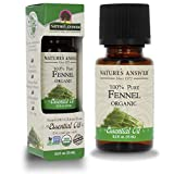 Nature's Answer USDA Organic Sweet Fennel Essential Oil, 100% Pure   Natural Aromatherapy Oil for Diffuser/Humidifier, Steam Distilled 0.5 fl oz. (15ml)   Made in USA