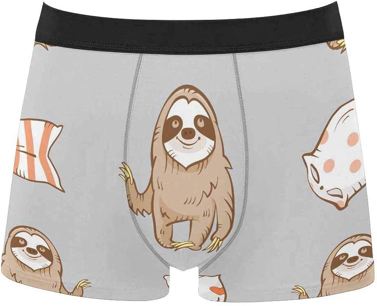 InterestPrint Men's Underwear Boxer Briefs Underwear for Juniors Yoth Boys Cartoon Love Heart