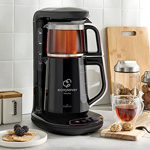 Karaca Çaysever Robotea Rosegold Teemaschine, Türkische Teekanne, Teekocher, Wasserkocher, Water Kettle, Tee, Tea maker…