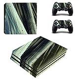 AXDNH PS4 Pro Pegatina/Piel Negra para Playstation 4 Pro Pegatina De Consola Pegatina Vinilo Piel Y 2 Pegatinas De Juego De Piel De Controlador para PS4 Pro Gamepad Accesorios,2845